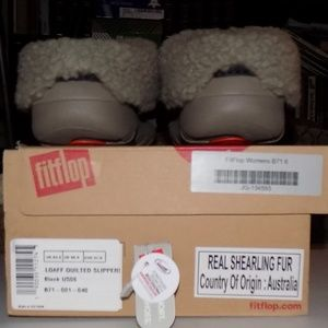 NIB Fitflop Loaff quilted slipper EU37/US6